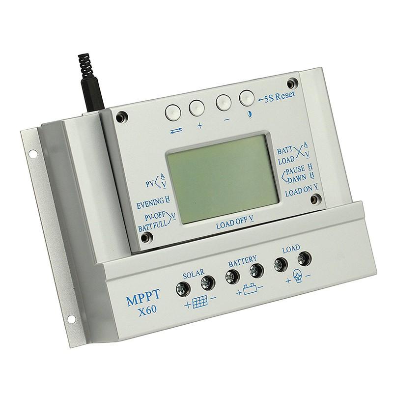 Y&H MPPT 60A 12V 24V Solar Panel Battery Charge Controller