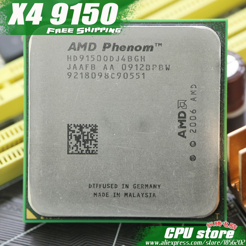 AMD Phenom X4 9150 CPU Processor Quad-CORE (1 8Ghz/ 2M /65W / 2000GHz)