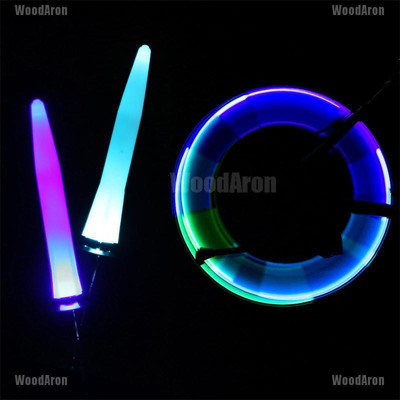 2Pcs LED Motion Activated Glow Bike Motorcycle Tire Valve Stem Caps Neon Light