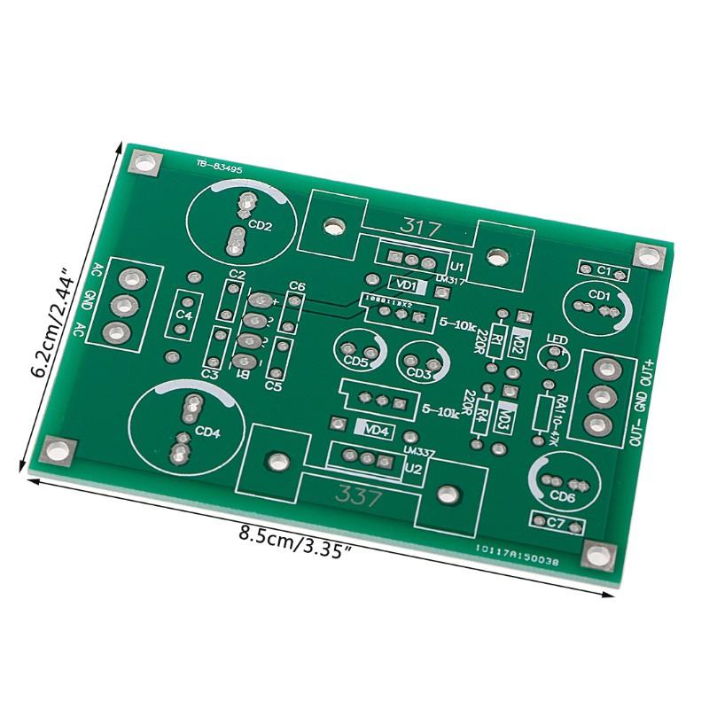 AC//DC 12V 24V LM317 LM337 Linear Voltage Regulator Adjustable Power Supply Kits