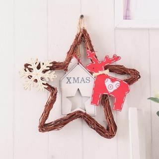 Christmas Tree Decorations Names.Rattan Woven Ornaments Five Pointed Star Christmas Tree Decorations A Pack Of 20