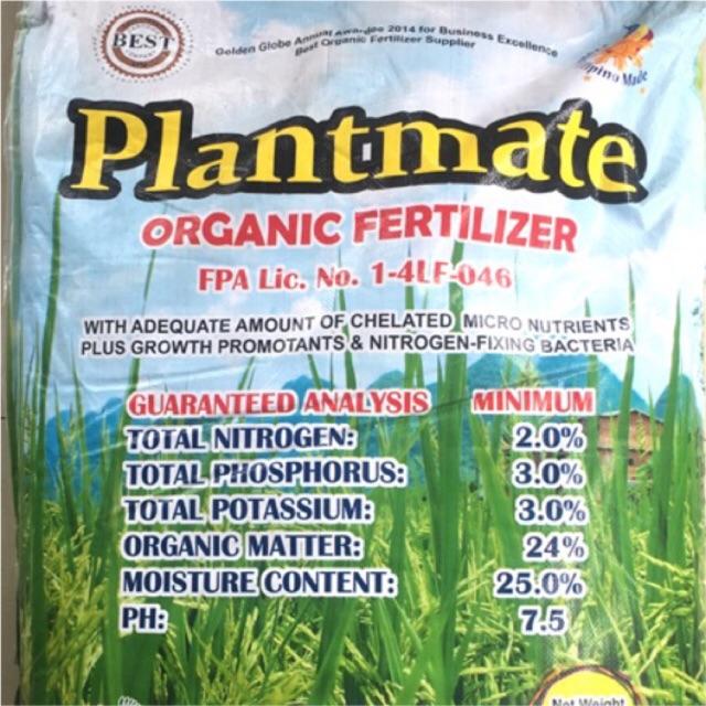 "Plantmate: ""The Best Organic Fertilizer in the Ph"" - 1kg"