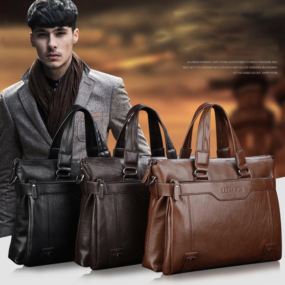 Tmr Briefcase Male Shoulder Bag Leather