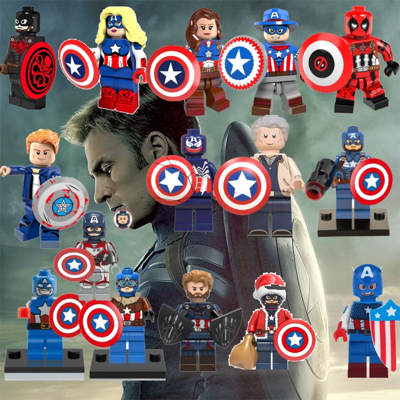 Captain America Building Block Minifigure Toy Lego