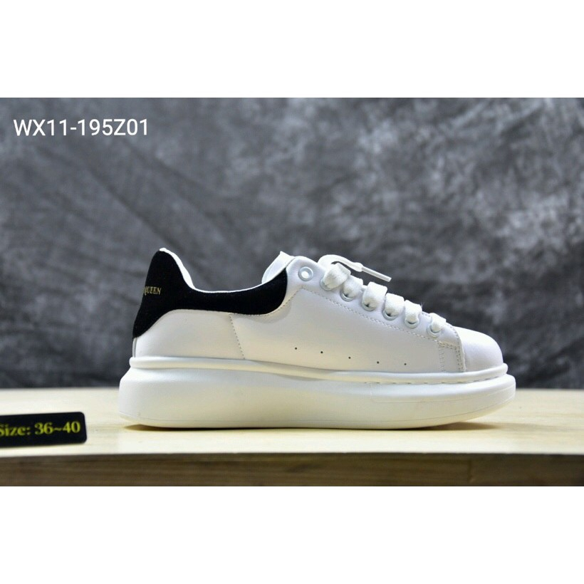 huge selection of 1109a de054 MCQ Alexander McQueen Women's Leather Sneakers WHITE BLACK