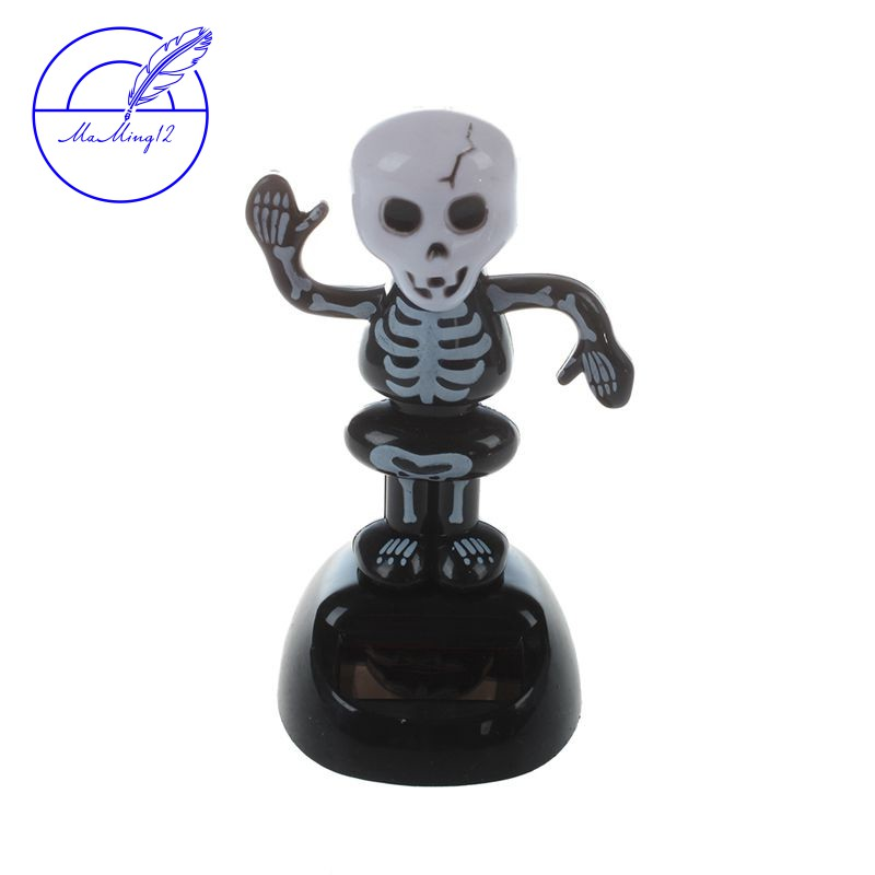 Solar Dancing Skull Novelty Toy Flip Flap Collectible Bobble Head Shake Dancer
