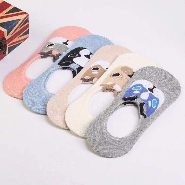 animals socks New Antiskid invisible socks for women's