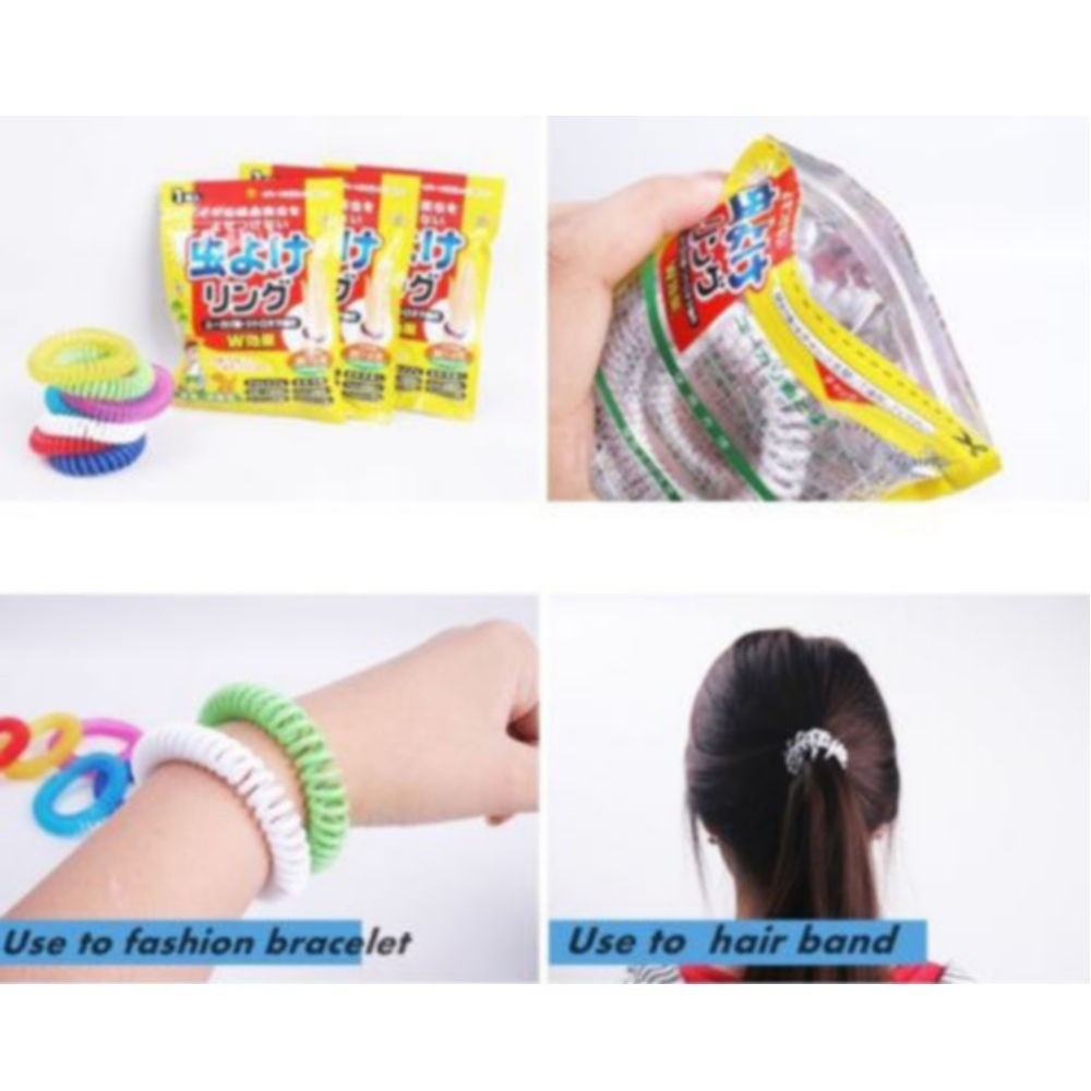 Anti Mosquito Insect Repellent Wrist Wrist Band Bracelet Bangle Camping New