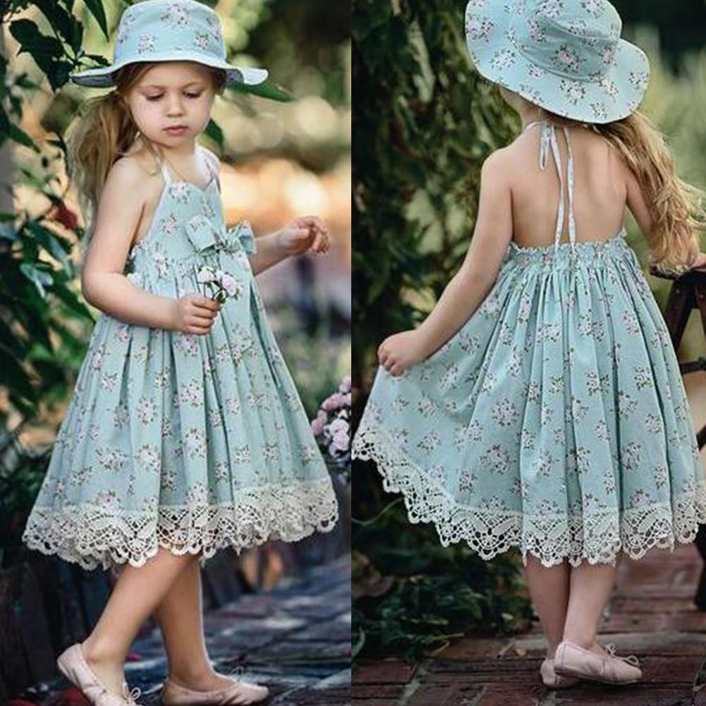 Girls Flower Princess Dress Kids Baby Pageant Party Dress