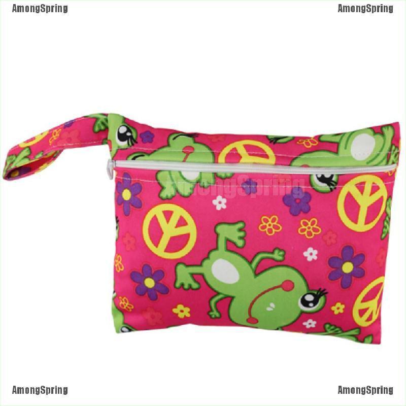 Mini Nursing Wet Bag Waterproof Reusable for Mama Cloth Menstrual Pads PM
