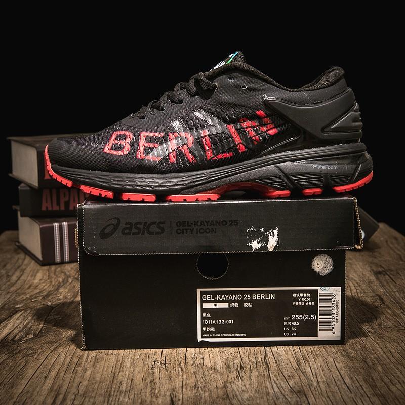 Evolucionar Contrato desagradable  Men ASICS GEL-KAYANO 25 Berlin Shoes Black | Shopee Philippines