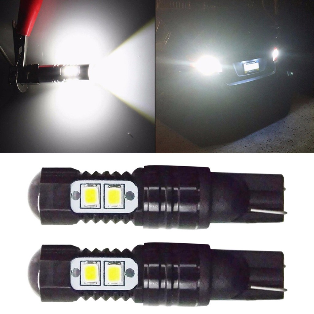 Zone Tech 2x 912 T10 9 SMD LED Interior Dome Map Light Bulb White Parking Backup