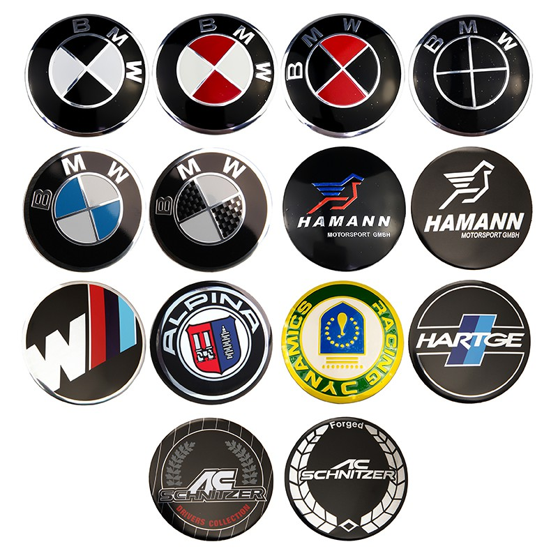56mm Tire Wheel Center Caps Decal Stickers Emblems Fit FORD Focus ST Black 4PCS