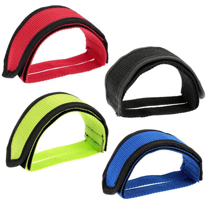 Sports Bike Double Bicycle Straps Belt Toe Clip Pedal Adhesive Strap