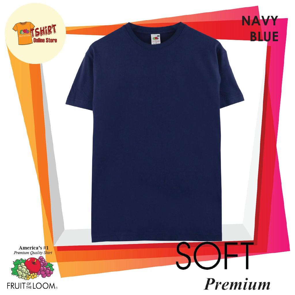 Fruit of the Loom 100% Cotton Round neck  Soft Premium T Shirt Navy Blue