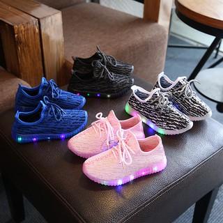sale retailer 6de23 b22cf Kids Boys Girls LED Light Up Sport Shoes Breathable Sneaker