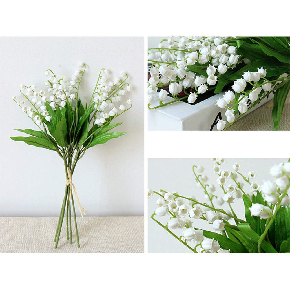 12pcs Artificial Lily of The Valley Flowers Bush for Decoration