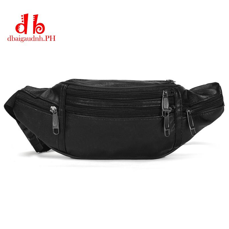 Men/'s Leather Small Shoulder Sling Bag Wasit Belt Bag Fanny Pack Sports Running