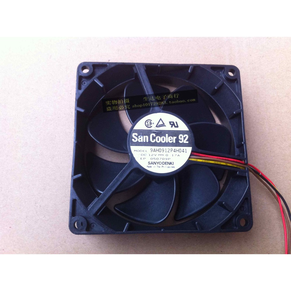 for Sanyo 9AH0912P4H041 9025 12V 0.17A 9CM PWM Speed Control Mute Chassis Fan