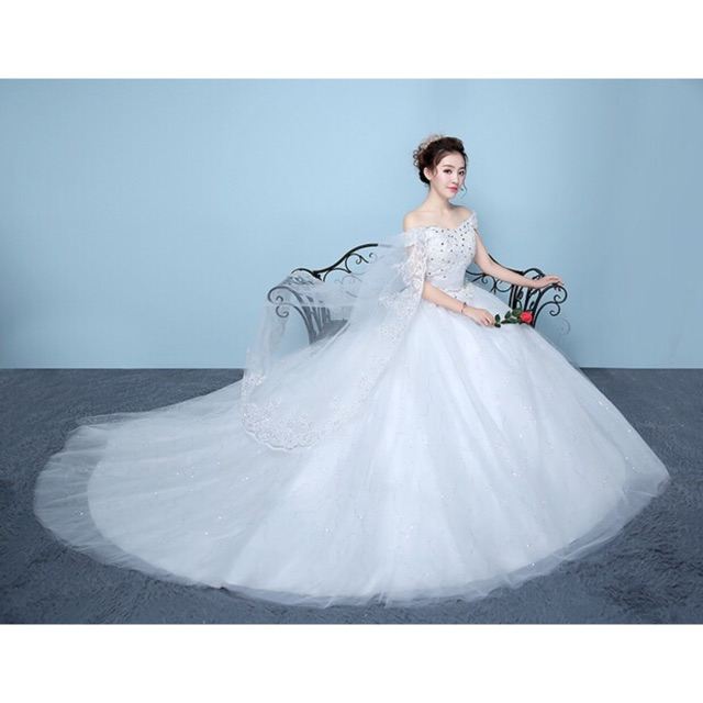 Wedding Gown Rates Philippines: Fashion Elegant Big Long Tail Wedding Dress Bridal Gown