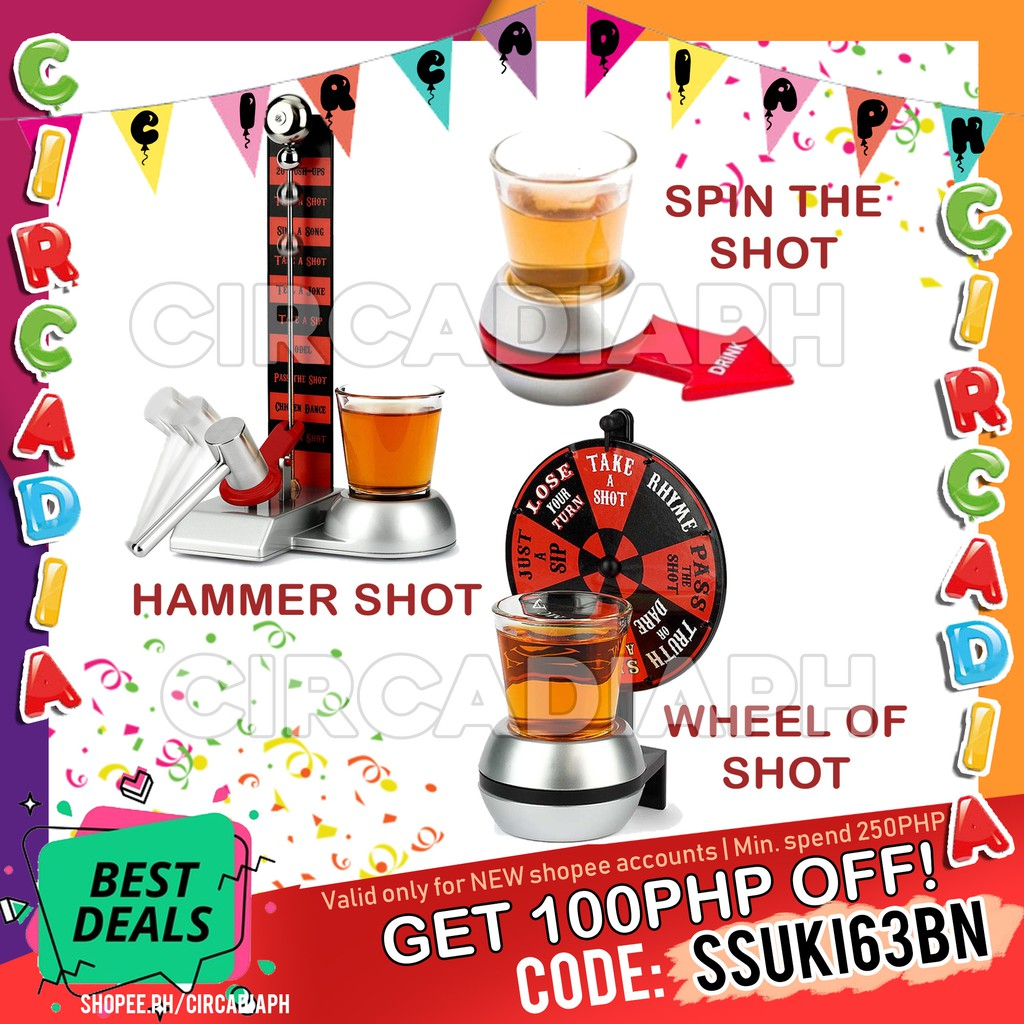 Spin The Shot / Wheel of Shots / Hammer Shot / Buzz Wire Drinking Game