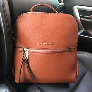 9959b0492c MK Rhea Medium Slim Leather Backpack Michael Kors Bagpack