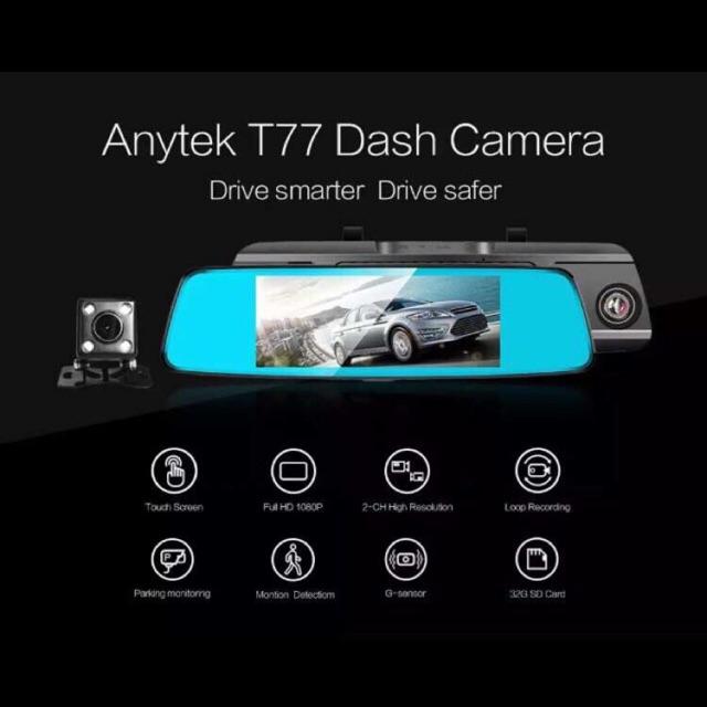 original Anytek T77 Night Visison Car DVR 170 View Dual Camera Car