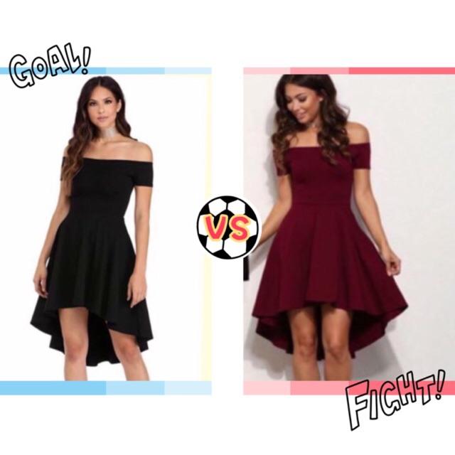 Off shoulder Long back Dress plus size dress casual dress ...