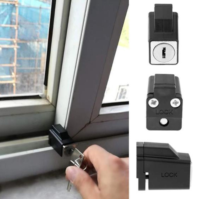 Doors And Windows Security Lock Window Stopper Black Sliding Window Security Lock With 2 Keys Zu Shopee Philippines
