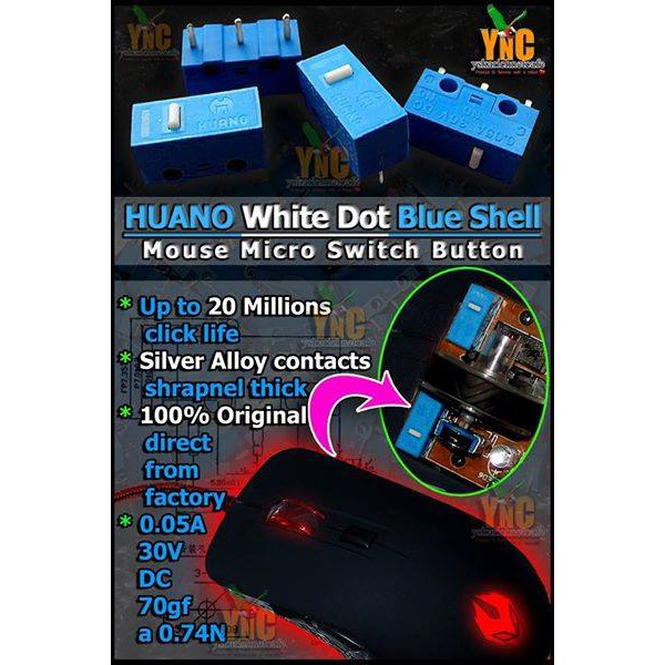 Huano mouse clicker *** 20 Million Click Life ***