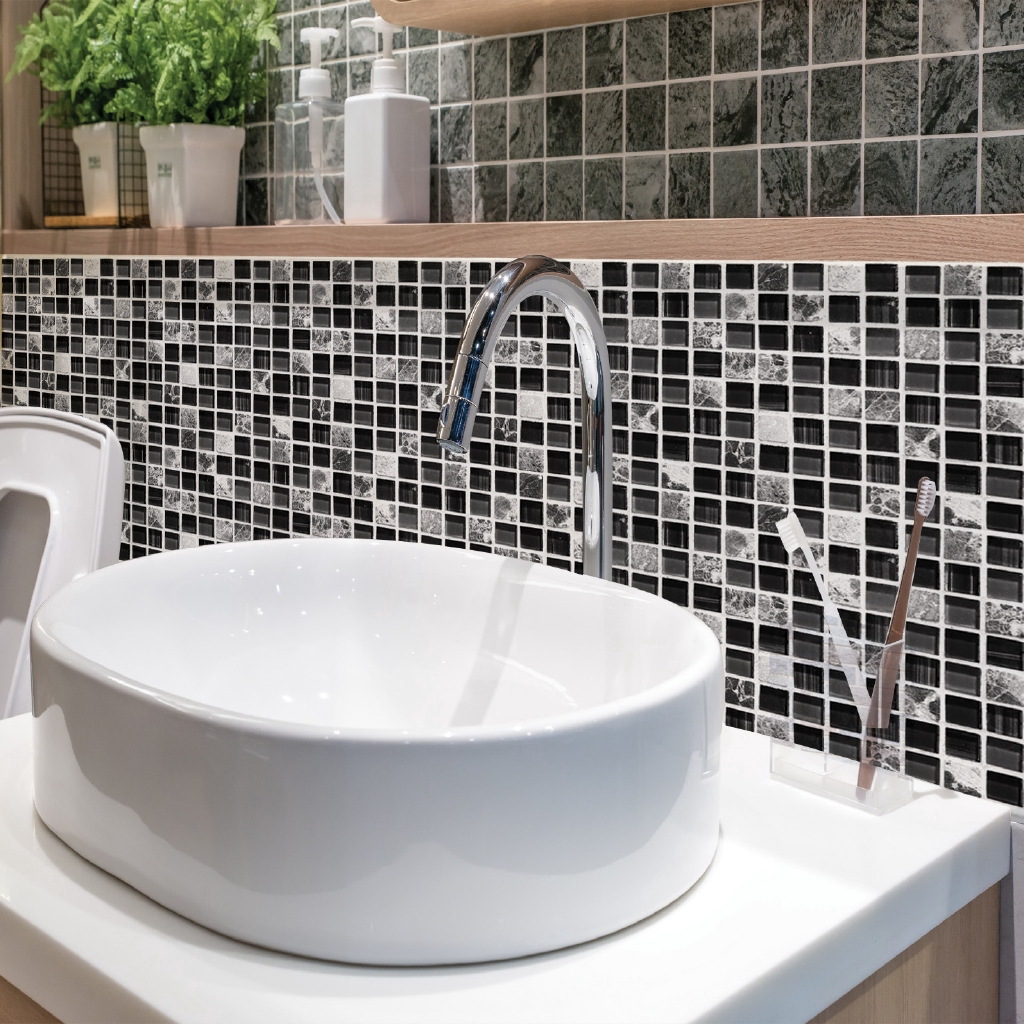 - 6pcs/Set Self Adhesive Mosaic Tile Sticker Kitchen Backsplash