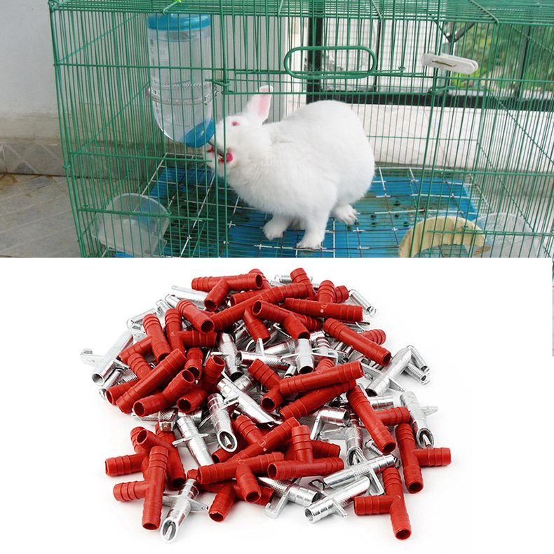 5Sets Nipple Water Drinker For Rabbit Rodents Waterer Poultry Watering Tool   R