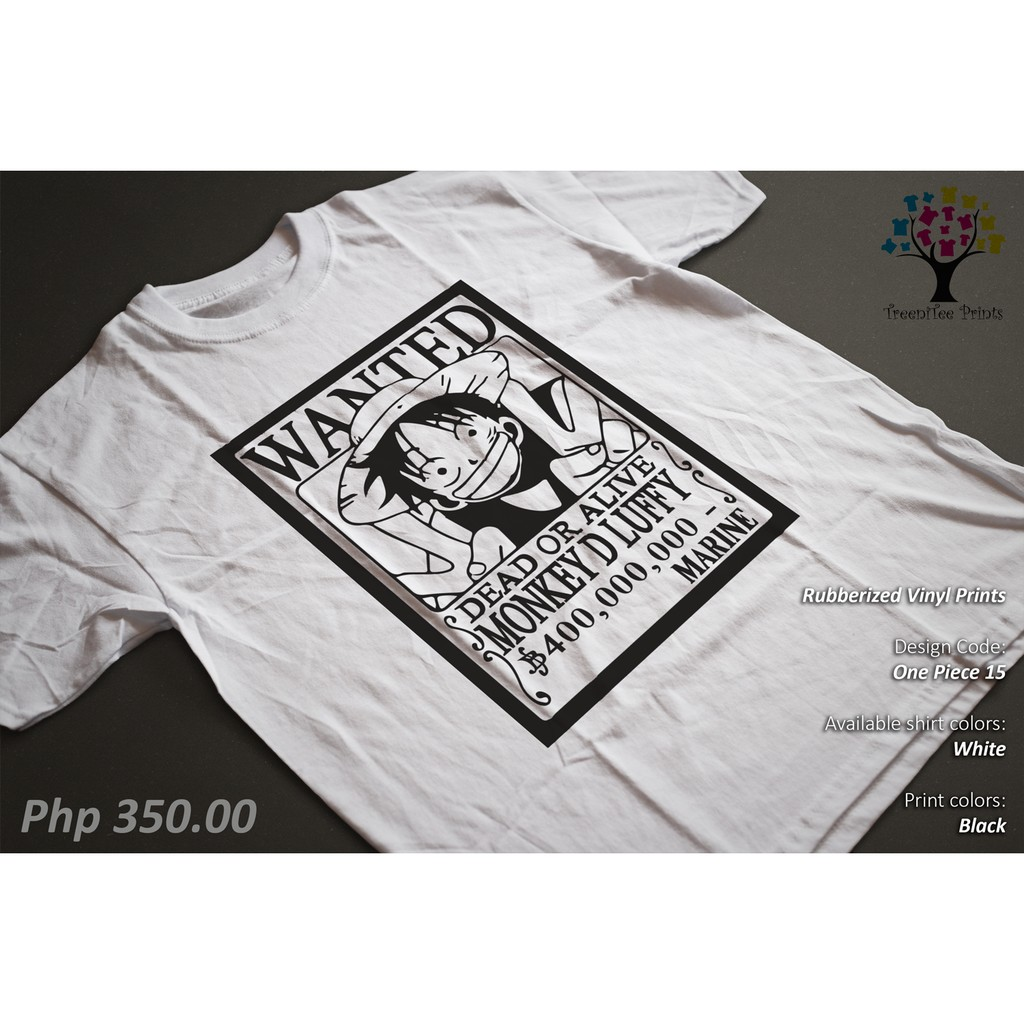 d2c3d7997 One Piece Luffy Pirate Anime Shirt/Tshirt/Tee | Shopee Philippines