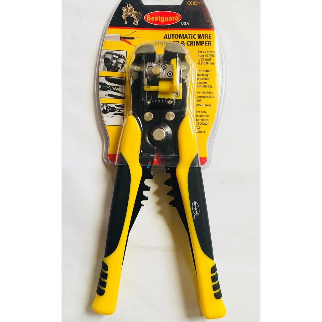 Bestguard Automatic Wire Stripper & Crimper-C6851