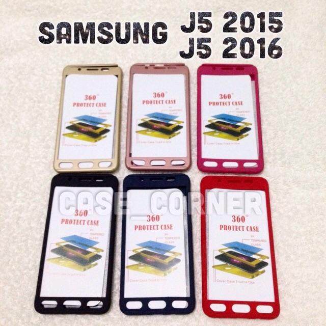 on sale a35a7 11c3d 360 Degree Case w/ FREE TG Samsung Galaxy J5 2015 & J5 2016