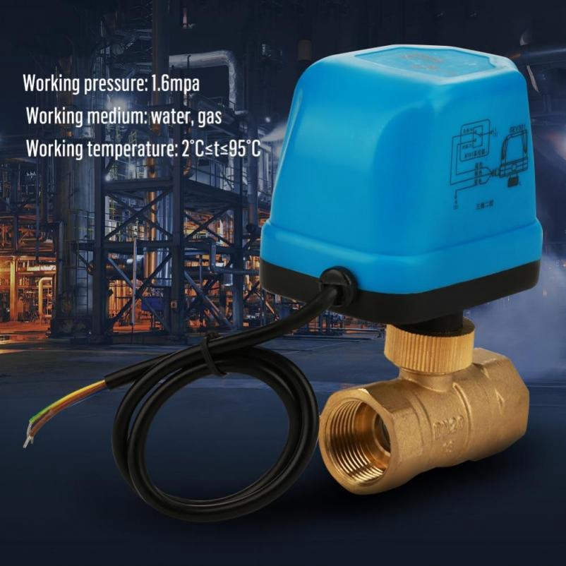 Ball Valve DC12V G3//4 DN20 2 Way Brass Motorized Actuator Ball Valve for Air Conditioning System and Plumbing Systems