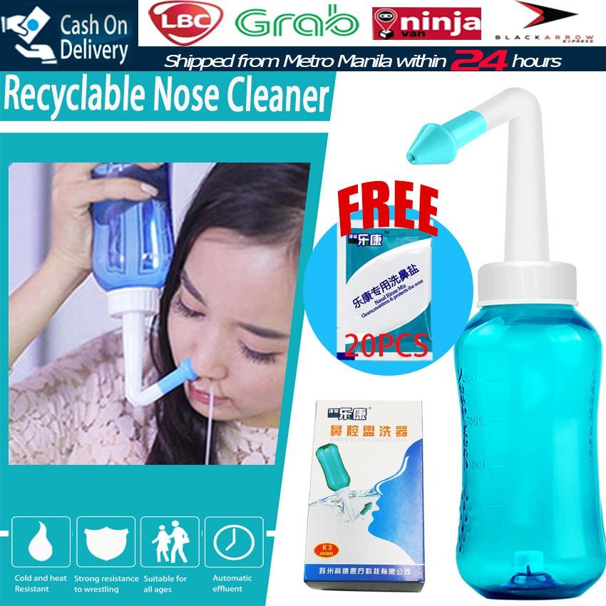 Free 20pcs Nasal Rinses Nasal Wash Nose Cleaner Protector Shopee