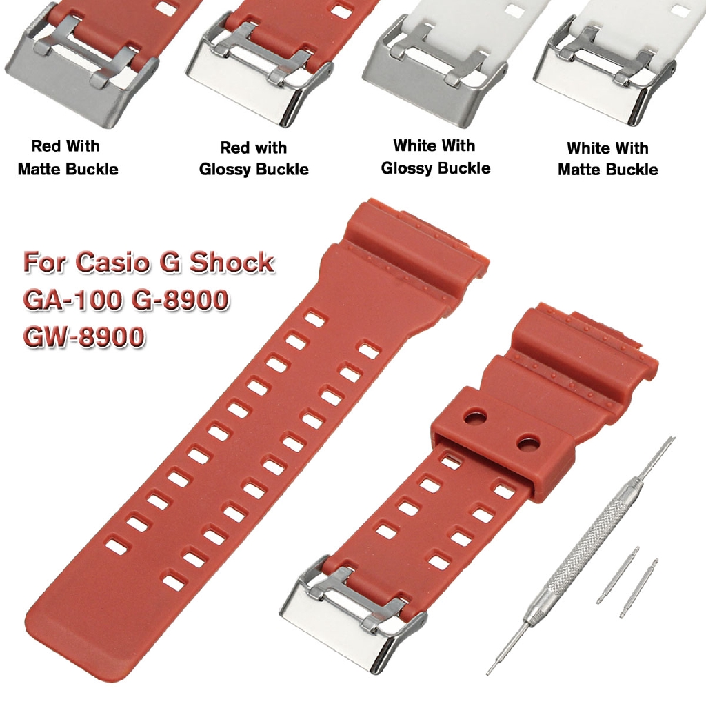 Soft Rubber Watch Strap Band Pins For G Shock 16mm Ga 100