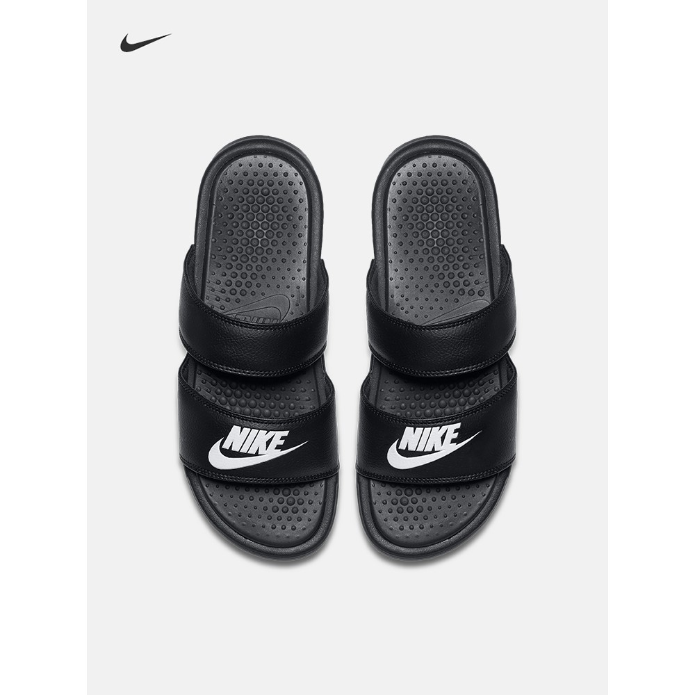 dc011eab90ea Nike Benassi Duo Ultra Slide Slipper black white sandals spo ...