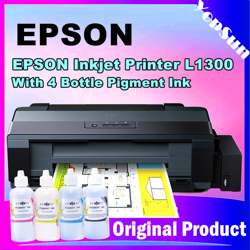 Epson L1300 A3 Size Ink Tank Printer With Pigment Ink