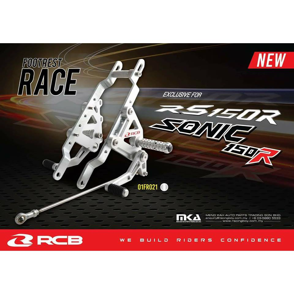 Full Set Shifter For Raider 150: Racing Boy Footrest Single Set RS150 Silver