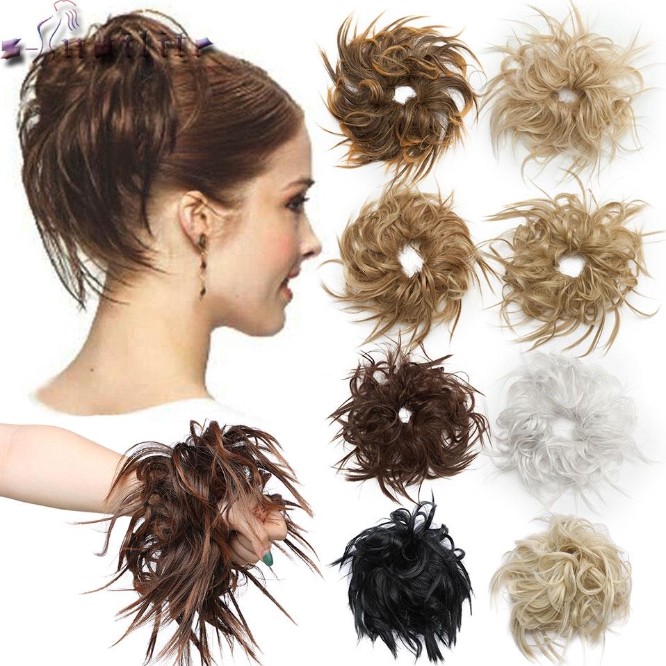 Messy Bun Hair Piece Scrunchy Hair Bun Women Chignon Synthetic Hair Extension For Women Hair Band Donut Wrap Ponytail Shopee Philippines