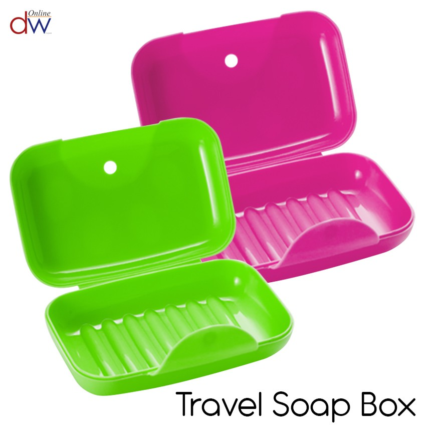 6x Soap Box with Lid Portable Travel Waterproof Soap Holder Soap Dish Container