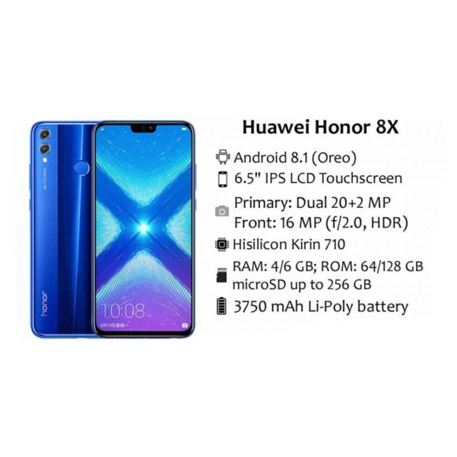 Honor 8x Black 6 5