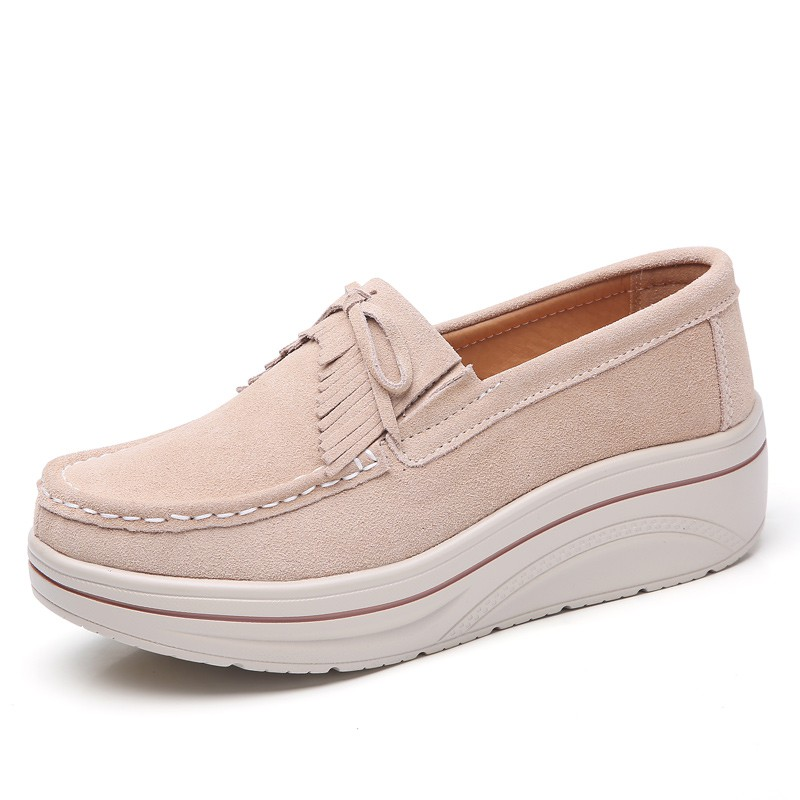 Unisexe loafers in thick leather