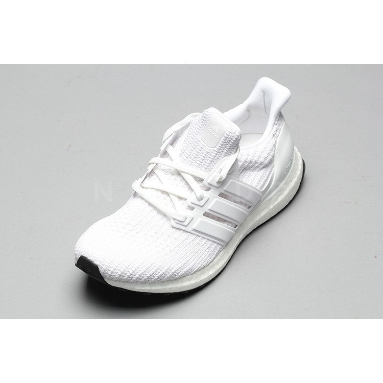 hot sale online 2c99a 02784 mosse Original Adidas Ultra Boost UB 4.0 Pure White Popcorn Running Shoes  BB6168 Sneakers