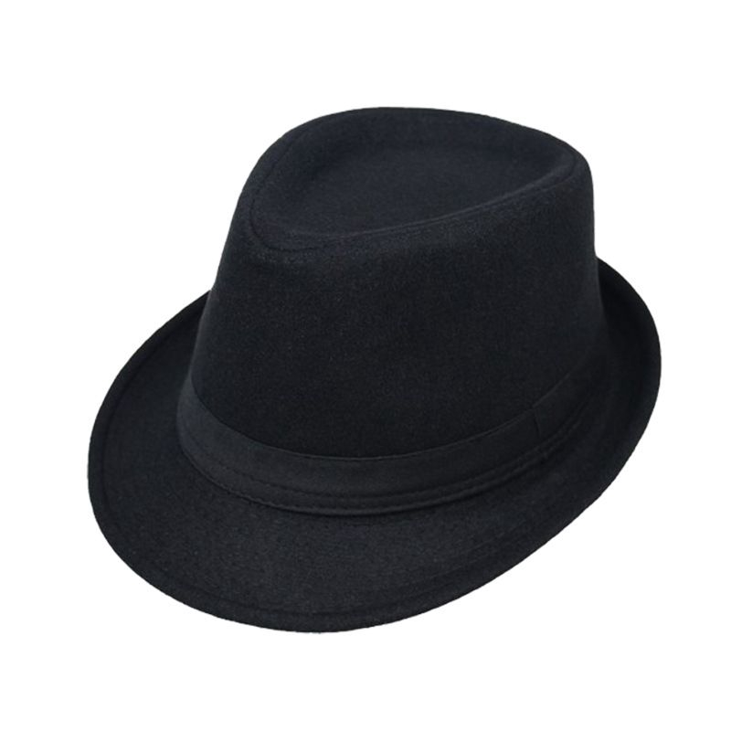 583f17e21 YONG*Men Women Unisex Vintage Wide Brim Fedora Hats Flat Top Solid Color  Curved Trim Dance