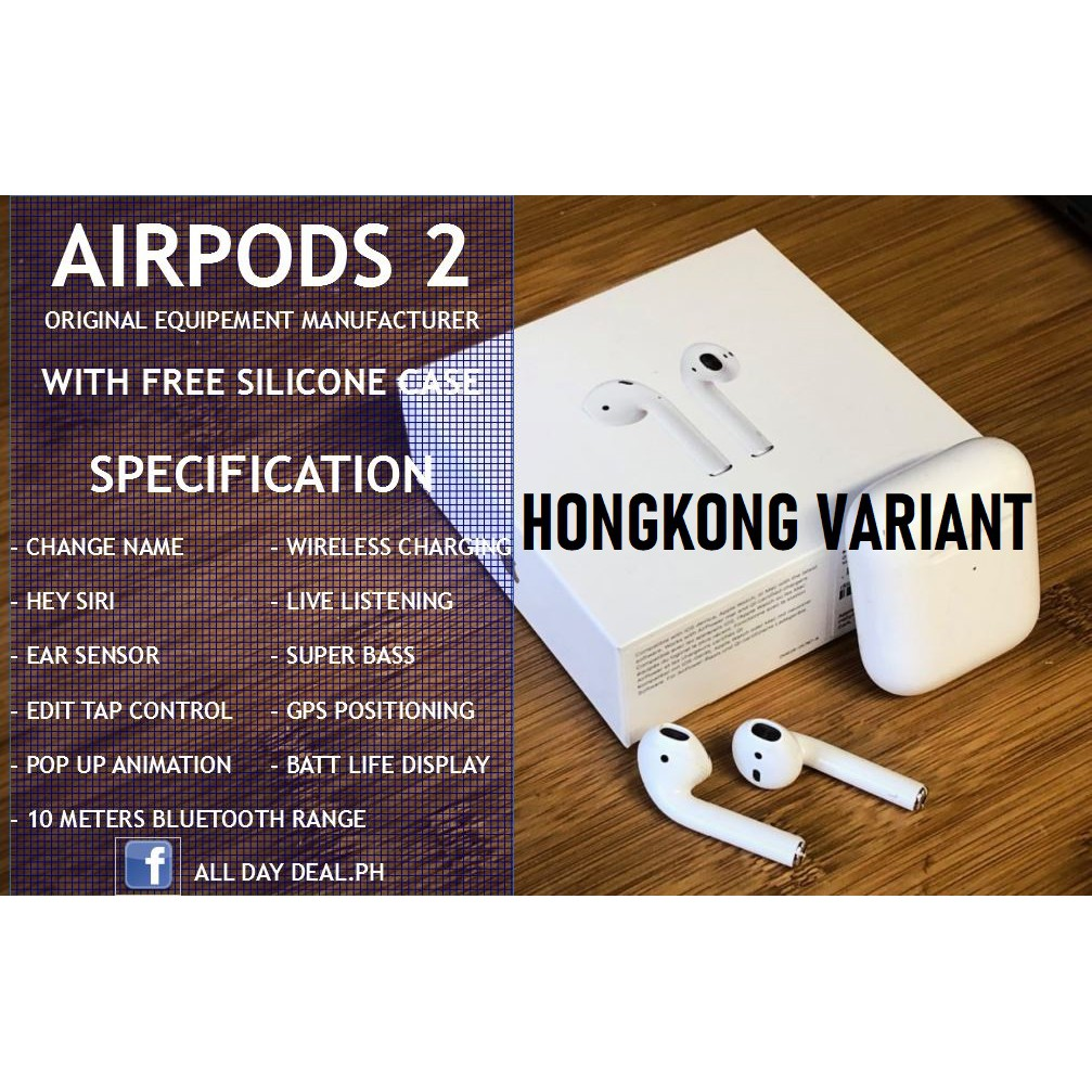 New Apple Airpods 2 O E M In Black And White Shopee Philippines