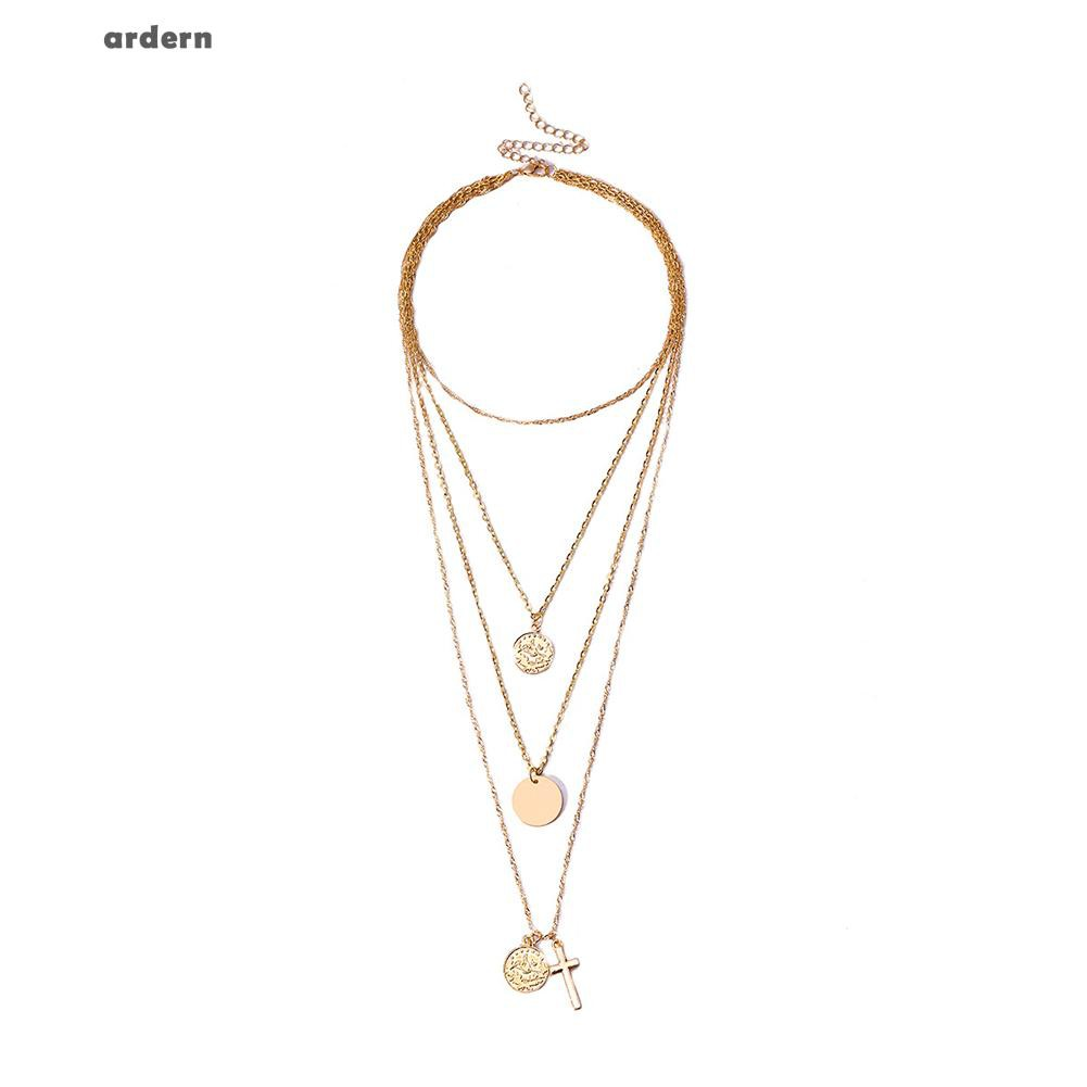 0ad2f112d Shoesgardern Fashion Women Collarbone Jewelry Elegant Multi Layers Cross  Pendants Necklace