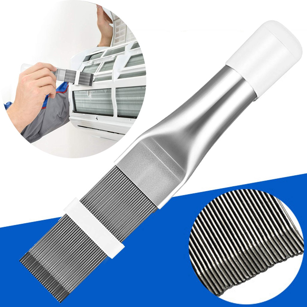 Fin Cleaning Brush Air Conditioner Fin Cleaner Refrigerator Coil Cleaning Whisk Brush Metal Fin Evaporator Radiator Repair Tool Air Conditioner Condenser Fin Comb 2
